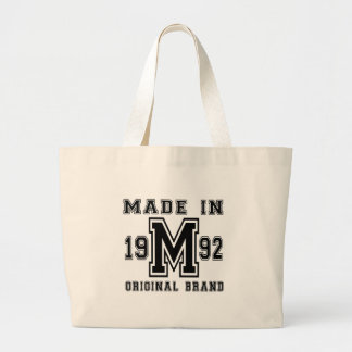 MADE IN 1992 ORIGINAL BRAND BIRTHDAY DESIGNS LARGE TOTE BAG