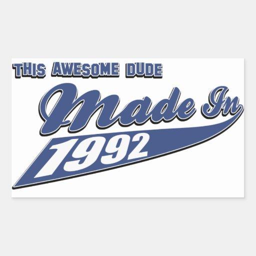 Made in 1992 sticker