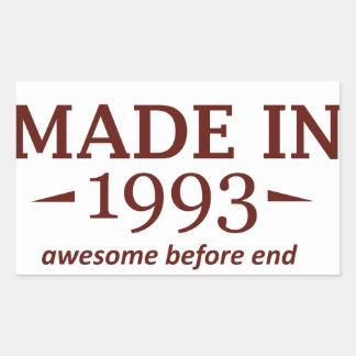 Made in 1993 rectangular sticker