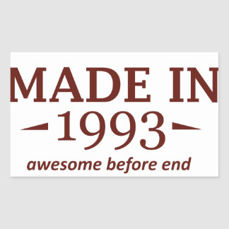 Made in 1993 stickers