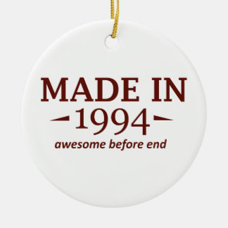 Made in 1994 ceramic ornament