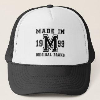 MADE IN 1999 ORIGINAL BRAND BIRTHDAY DESIGNS TRUCKER HAT