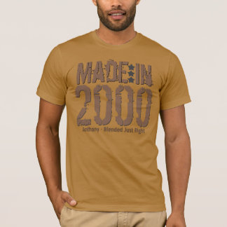 Made in 2000 or Any Year Grunge Text MOCHA T-Shirt