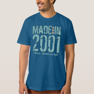 Made in 2001 or Any Year Grunge Text GALAXY BLUE T-Shirt