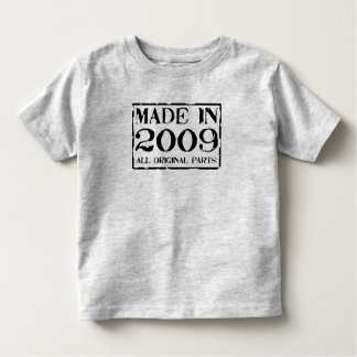 made in 2009 all original parts toddler T-Shirt
