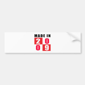 Made In 2009 Birthday Designs Bumper Sticker