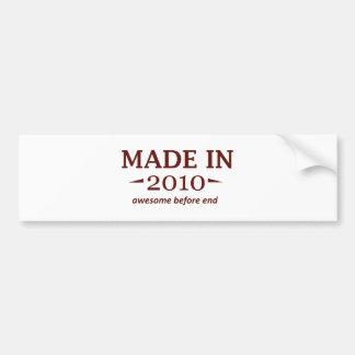 Made In 2010 Birthday Designs Bumper Sticker