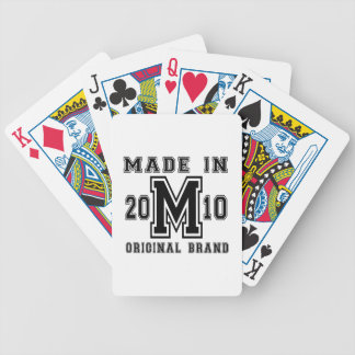 MADE IN 2010 ORIGINAL BRAND BIRTHDAY DESIGNS BICYCLE PLAYING CARDS