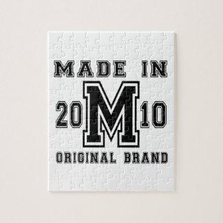 MADE IN 2010 ORIGINAL BRAND BIRTHDAY DESIGNS JIGSAW PUZZLE