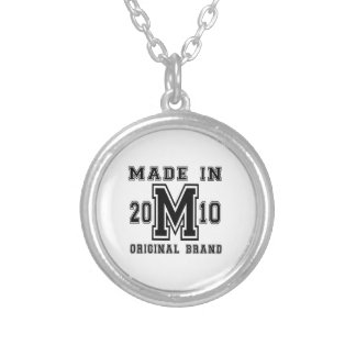 MADE IN 2010 ORIGINAL BRAND BIRTHDAY DESIGNS SILVER PLATED NECKLACE