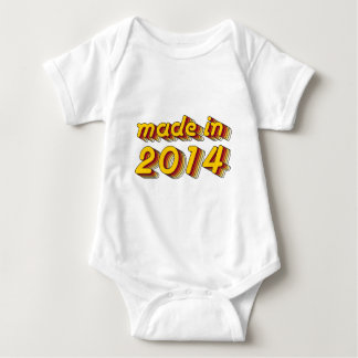 Made in 2014 (Yellow&Red) Baby Bodysuit