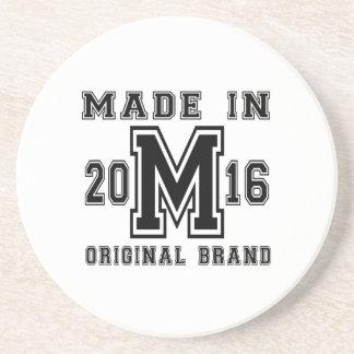 MADE IN 2016 ORIGINAL BRAND BIRTHDAY DESIGNS COASTER