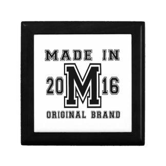 MADE IN 2016 ORIGINAL BRAND BIRTHDAY DESIGNS GIFT BOX