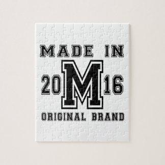 MADE IN 2016 ORIGINAL BRAND BIRTHDAY DESIGNS JIGSAW PUZZLE