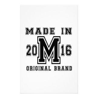 MADE IN 2016 ORIGINAL BRAND BIRTHDAY DESIGNS STATIONERY