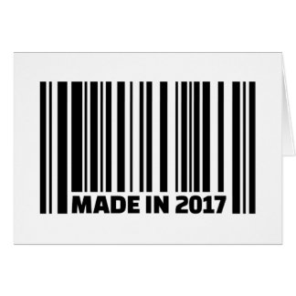 Made in 2017 card