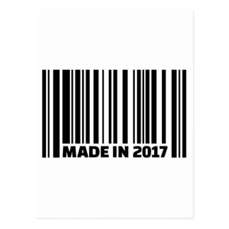 Made in 2017 postcard