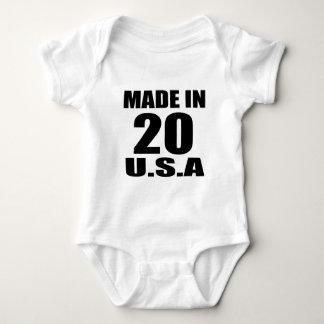 MADE IN 20 U.S.A BIRTHDAY DESIGNS BABY BODYSUIT