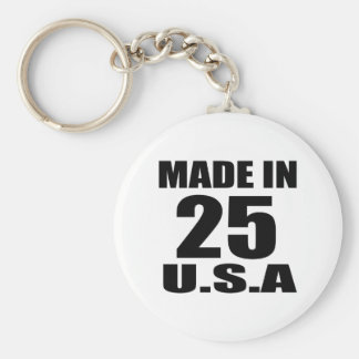 MADE IN 25 U.S.A BIRTHDAY DESIGNS KEY RING