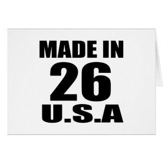 MADE IN 26 U.S.A BIRTHDAY DESIGNS CARD