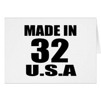 MADE IN 32 U.S.A BIRTHDAY DESIGNS CARD