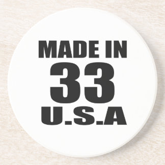 MADE IN 33  U.S.A BIRTHDAY DESIGNS COASTER