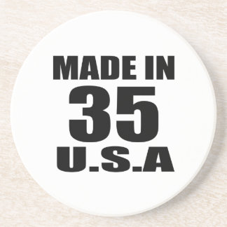 MADE IN 35 U.S.A BIRTHDAY DESIGNS COASTER