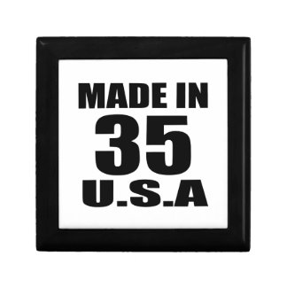 MADE IN 35 U.S.A BIRTHDAY DESIGNS GIFT BOX