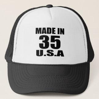 MADE IN 35 U.S.A BIRTHDAY DESIGNS TRUCKER HAT