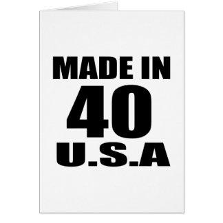 MADE IN 40 U.S.A BIRTHDAY DESIGNS CARD