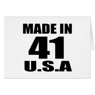 MADE IN 41 U.S.A BIRTHDAY DESIGNS CARD