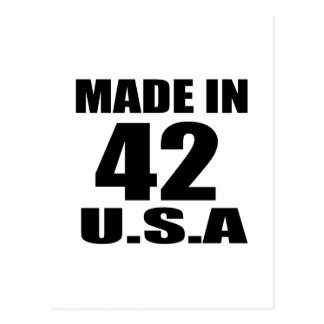 MADE IN 42 U.S.A BIRTHDAY DESIGNS POSTCARD