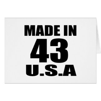 MADE IN 43 U.S.A BIRTHDAY DESIGNS CARD