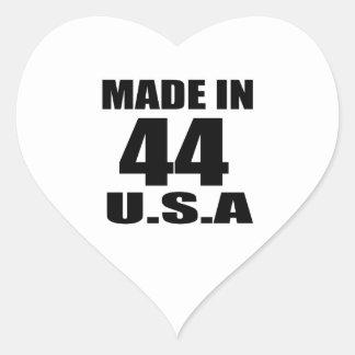 MADE IN 44 U.S.A BIRTHDAY DESIGNS HEART STICKER