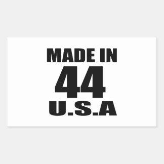 MADE IN 44 U.S.A BIRTHDAY DESIGNS RECTANGULAR STICKER