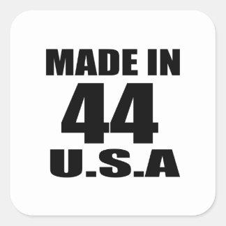 MADE IN 44 U.S.A BIRTHDAY DESIGNS SQUARE STICKER