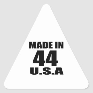 MADE IN 44 U.S.A BIRTHDAY DESIGNS TRIANGLE STICKER