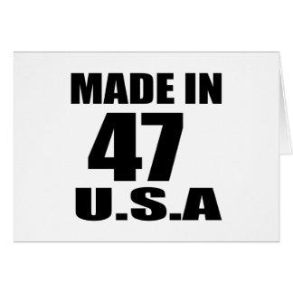 MADE IN 47 U.S.A BIRTHDAY DESIGNS CARD