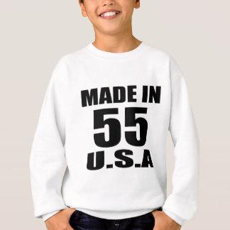 MADE IN 55 U.S.A BIRTHDAY DESIGNS SWEATSHIRT
