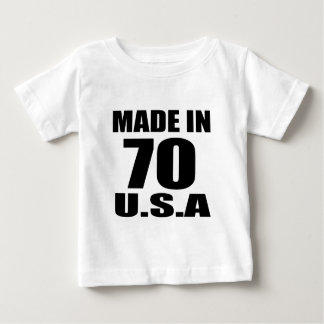 MADE IN 70 U.S.A BIRTHDAY DESIGNS BABY T-Shirt