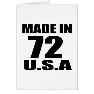 MADE IN 72 U.S.A BIRTHDAY DESIGNS CARD