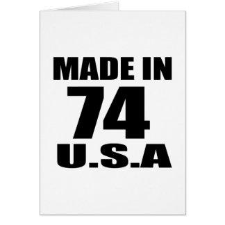 MADE IN 74 U.S.A BIRTHDAY DESIGNS CARD