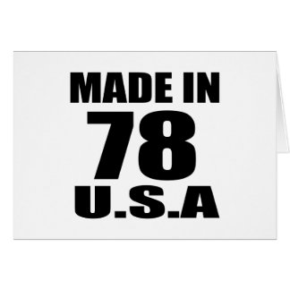 MADE IN 78 U.S.A BIRTHDAY DESIGNS CARD