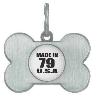MADE IN 79 U.S.A BIRTHDAY DESIGNS PET ID TAG