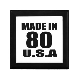 MADE IN 80 U.S.A BIRTHDAY DESIGNS GIFT BOX