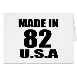 MADE IN 82 U.S.A BIRTHDAY DESIGNS CARD