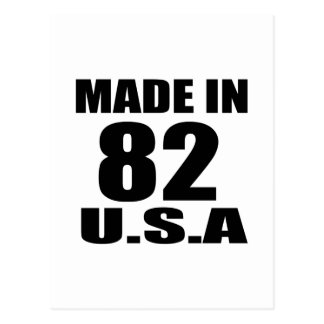 MADE IN 82 U.S.A BIRTHDAY DESIGNS POSTCARD