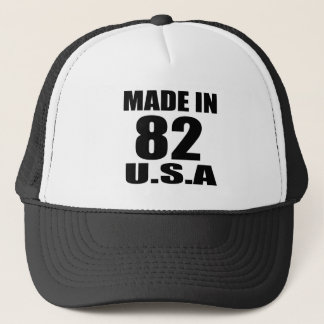 MADE IN 82 U.S.A BIRTHDAY DESIGNS TRUCKER HAT