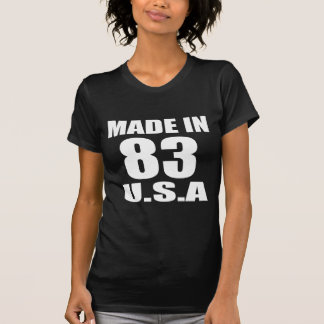 MADE IN 83 U.S.A BIRTHDAY DESIGNS T-Shirt