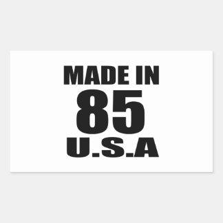 MADE IN 85 U.S.A BIRTHDAY DESIGNS RECTANGULAR STICKER